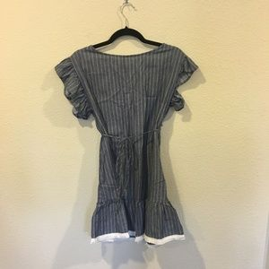 bp Dresses - NWT BP ruffle trim stripe cotton shift dress